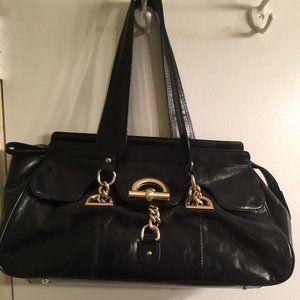 kate Landry Black Leather Ladies Handbag